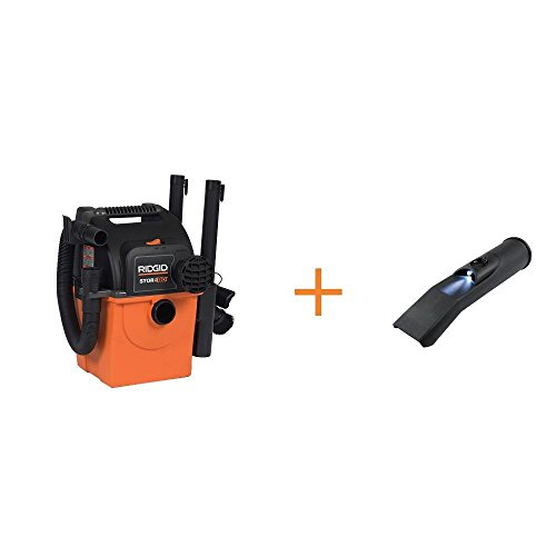 RIDGID WD5500A Stor-N-Go 5 gal. 5.0-Peak HP Wet Dry Vac Vacuum with Bonus LED Lighted Car Nozzle and Toucan City screwdriver by Toucan City (Image #5)