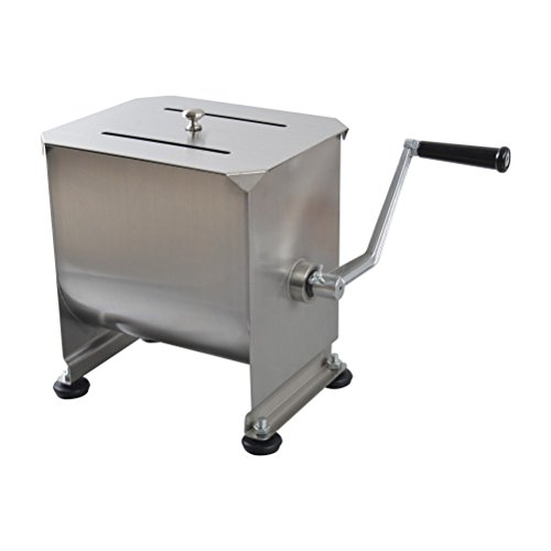 Hakka 20-Pound/10-Liter Capacity Tank Stainless Steel Manual Meat Mixers (Mixing Maximum 15-Pound for Meat) ()