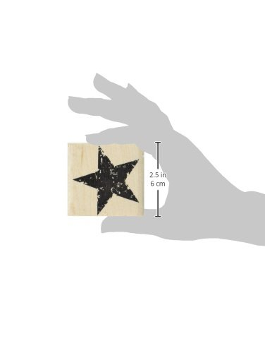 tim holtz red rubber stamp star silhouette 1 5 x1 5 office supplies office instruments stamps. Black Bedroom Furniture Sets. Home Design Ideas