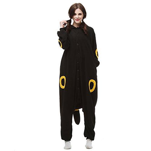 ESY Costume Adult Pajamas Cosplay Onesie Black Yellow Umbreon L ()