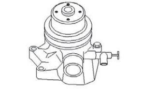 John Deere Water Pump RE25043 Fits JD 210C,310A, 310B, 350