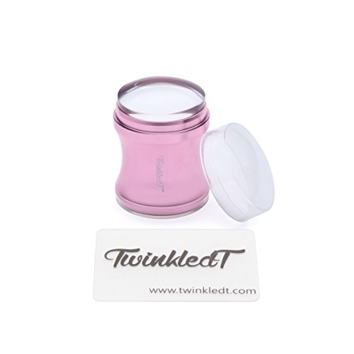 Pink Stainless Steel Clear Jelly Stamper and Scraper by Twinkled T