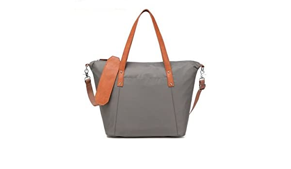 be3143ebdbd5 Amazon.com   CL Diaper Bag Travel Backpack Multi-function Bag with Baby  Changing Pad - Grey with orange strap   Baby