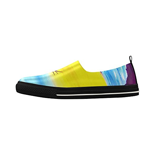 Sneaker Da Uomo In Microfibra Slip-on Con D-story Custom Palm Tree