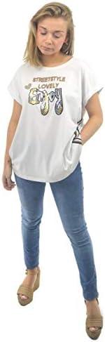 Anna Mora Women's Text T-Shirt