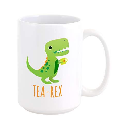 RKC Gifts Tea Rex Tyrannosaurus Rex Funny Tea/Coffee Mug 15oz - Quality Birthday Gift for Men/Women - Best Novelty Office Cup - Top Gift Idea for Coffee/Tea/Wine Lovers ()
