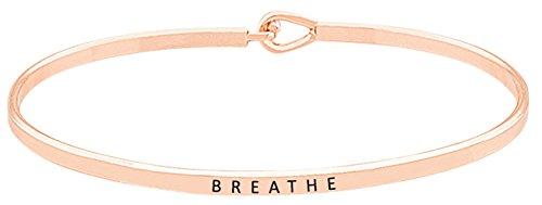 BREATHE Inspirational Mantra Engraved Bracelet product image