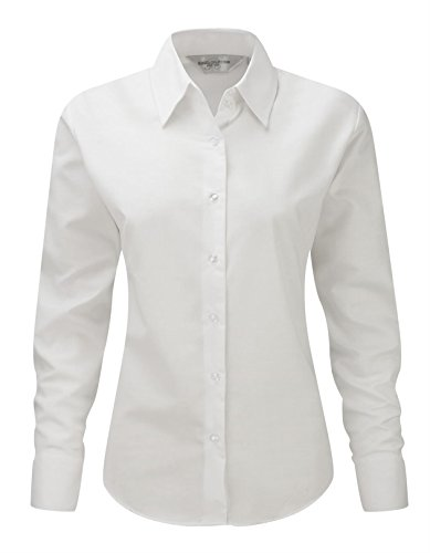 Shirt Easy Care Womens Blanc Russell Collection Long Oxford Sleeve aw0y4