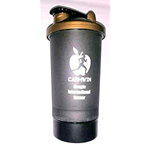 CASHWIN Gym Shaker Pro Cyclone Shaker 600ml with Extra Compartment, 100% Leak-Proof Guarantee, Ideal for Protein, Pre…