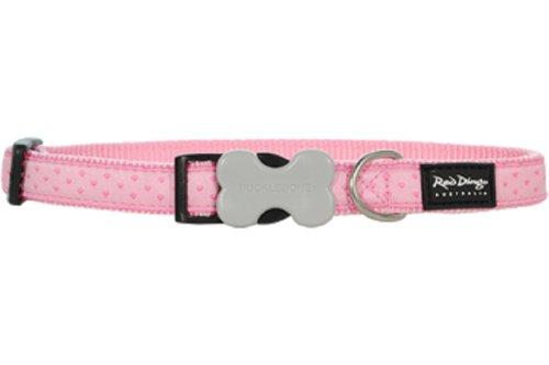 Red Dingo Designer Dog Collar, Large, Love Sprinkles Pink