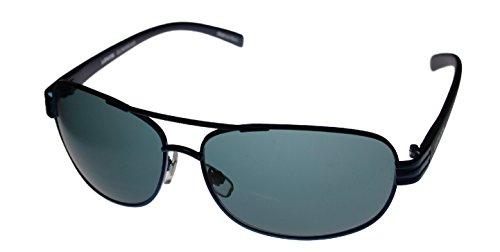 Levi Sunglass Mens Navy Blue Metal Aviator, Solid Green Lens LS133 2 (Eyewear Levi's)