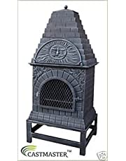 Castmaster LARGE CAST IRON CHIMINEA OUTDOOR PIZZA OVEN