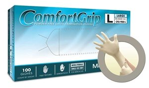 Microflex Comfortgrip Latex Exam Medical Powder Free Gloves, Medium (1000 Case)
