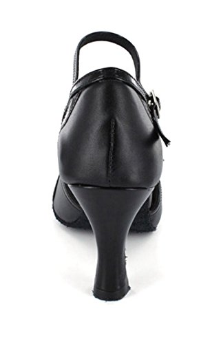 Latin Tango Sandals Women's Ballroom TDA Black Fashion Dance Heel High Salsa FXw0xzw