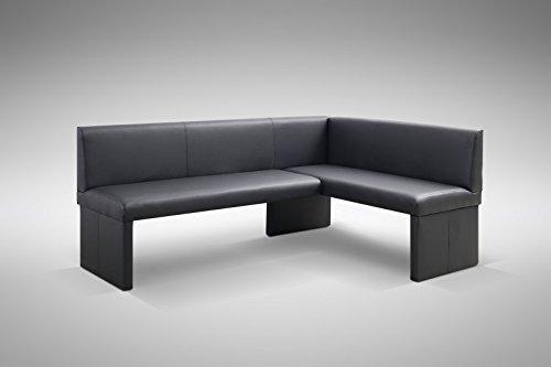Design Eckbank Otto modern Kunstleder schwarz - Links