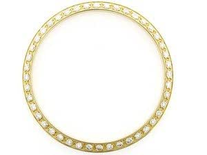 Mens Diamond Replacement Bezel for Rolex Datejust 1ct