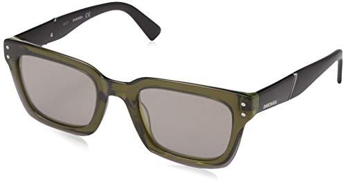 Diesel Dl0231 Square Sunglasses, Green, 51 ()