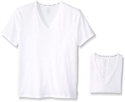 Calvin Klein Men's 2-Pack Modern Cotton Stretch V-Neck T-Shirt