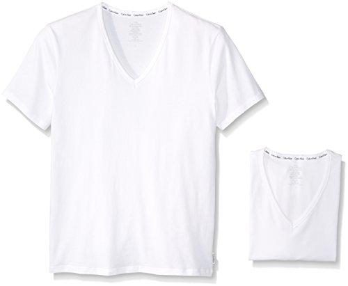 UPC 608279520191, Calvin Klein Men's 2-Pack Modern Cotton Stretch V-Neck T-Shirt, White, X-Large