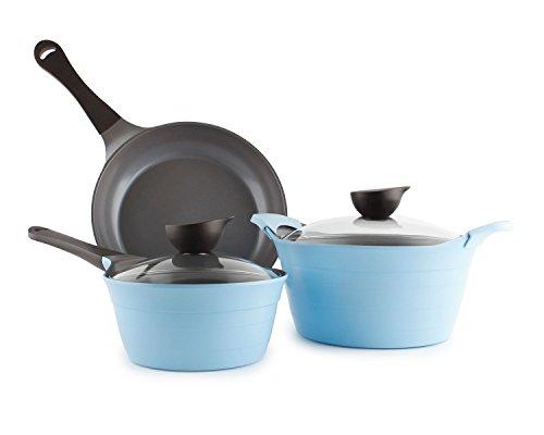 Neoflam Eela 5-Piece Ceramic Nonstick Cookware Set in Light Blue