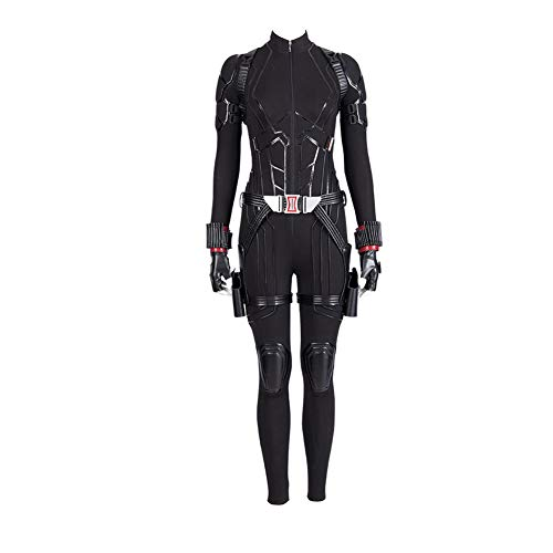 COSSHOW 2019 Black Widow Cosplay Costume Superhero Avengers Jumpsuit Avengers Endgame]()