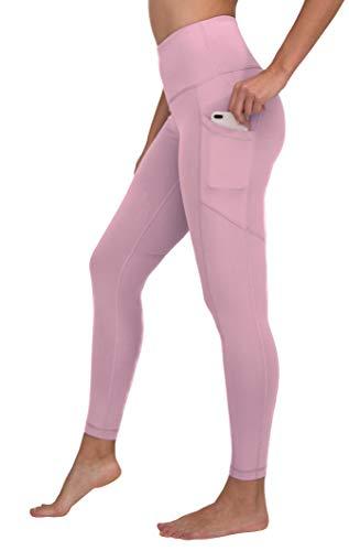 90 Degree By Reflex Womens Power Flex Yoga Pants - Dawn Pink - Medium