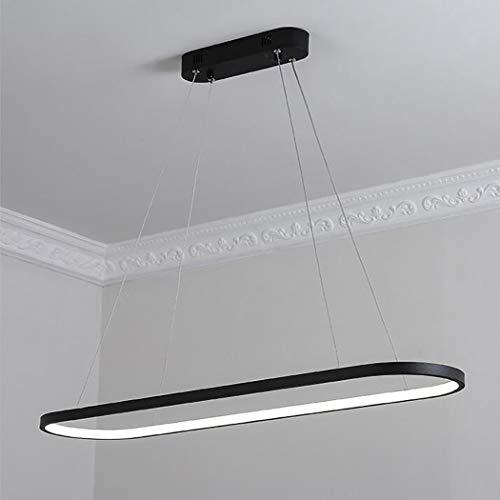 AIBOTY Modern Pendant Light Circular LED Chandelier Adjustable Hanging Ceiling Lights Contemporary Oval Rings Lighting Warm White,Black,coolwhite
