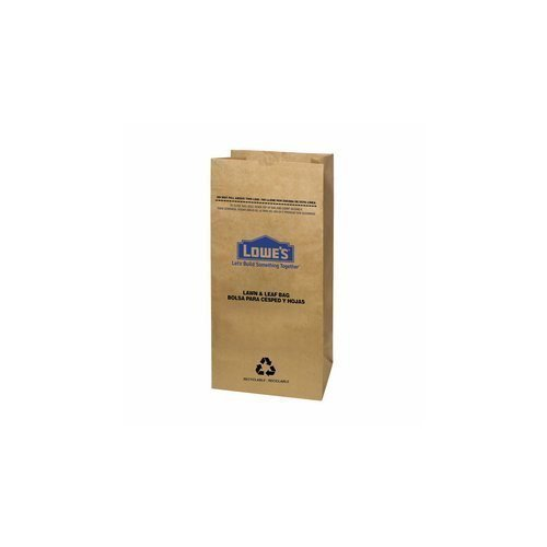 Lowe's H&PC-75419 (25 Count) 30 Gallon Heavy Duty Brown Paper Lawn and Refuse Bags for Home, Original Version