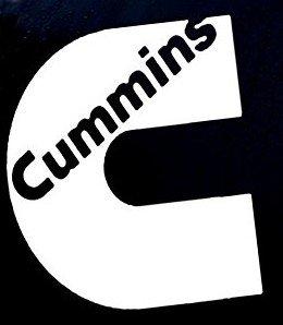 Cummins Diesel Logo Decal Vinyl Sticker|Cars Trucks Vans Walls Laptop| WHITE |5.5 x 4.75 in|CCI767