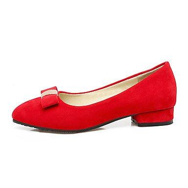 Talones de las mujeres de primavera y verano otro vestido de cuero tacón grueso Otros Negro Rojo Beige Beige