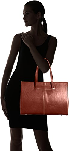 cuir in véritable Made main sac Femme documents à Marrone Italy porte Marron 100 dossier 0aTqUwnf