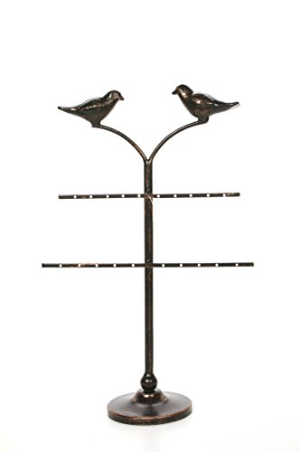 Hosley 20.25 Inch High Decorative Tabletop Cardinal Birds Jewelry Chain Ring Knickknack Stand Ideal Gift for Wedding Home Party Favors Spa Reiki Meditation Bathroom Settings O9