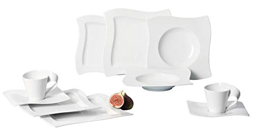 Cheap Villeroy & Boch New Wave 30-Piece Basic Dinnerware Set, White