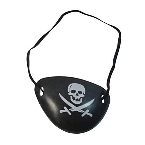 Eye Pirat - Jetting Pirate Eye Patch Skull Crossbone Halloween Party Favor Costume Kids Toy - Pink Dogs Favors Medical Pirate Hook Black Sword Girls Felt Party Plastic Kids Earring Mask Scarf Ad for $<!--$7.99-->