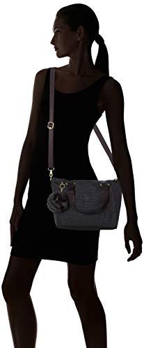 Negro mano Bolso Pylon Mujer Emb Black Kipling Sintético de de xY1OwYqvg