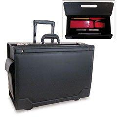 * Wheeled Catalog Case, Leather-Trimmed Tufide, 21-3/4 x 15-1/2 x 9-3/4, ()