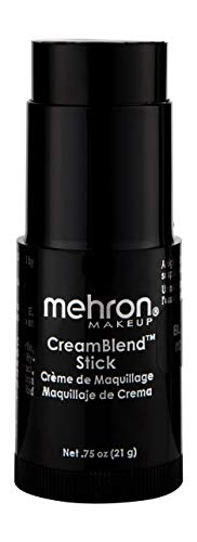 - Mehron Makeup CreamBlend Stick (.75 oz) (BLACK)