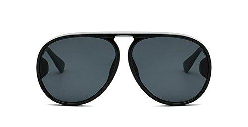 inspirées Lennon cercle style rond vintage lunettes du métallique en polarisées de retro Noire Boîte soleil anwn8qgtA