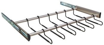 24 Hanger Pants Rack Pull-out, Synergy Collection, 30'', With Full Extension Slide Matt Nickel by Hardware INC