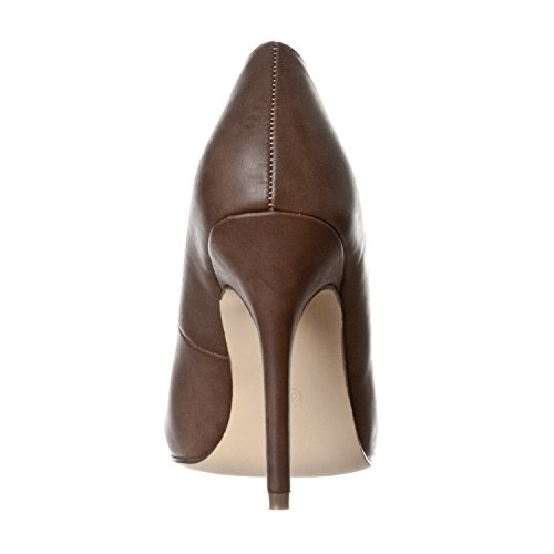 High Piper Toe Pu Riverberry Heel Coffee Round Women's Pumps wqZvx7S