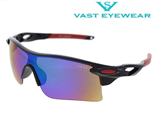 8d016e584e84 Image Unavailable. Image not available for. Colour  Vast Plastic UV  Protection Unisex Sport Sunglasses ...