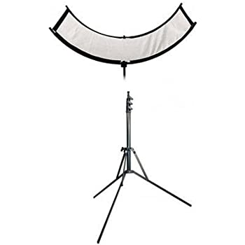 Westcott The Eyelighter, Collapsible Reflector for Eye Catchlights - Bundle With Matthews 7' Reverse Stand