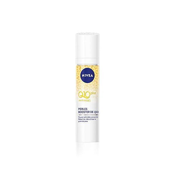 NIVEA Q10 Power Soin Perles Repulpantes Anti-Rides +Fermeté (1 x 40 ml), sérum visage enrichi en Q10 et créatine, soin…
