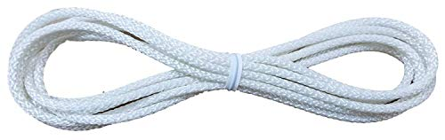 D30 CORD LOOPS fits all brands.....Hunter Douglas, Levolor, Kirsch, Graber, Bali, USED on most cellular and pleated shades (2.7 mm) (White, 5 Ft Drop)