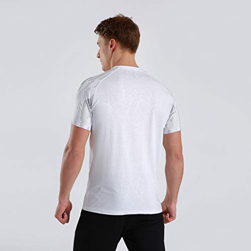 Winsummer Men's Dry Fit Athletic Shirts Short Sleeve T-Shirt Running Fitness Tee Shirts Crewneck Tshirts by Winsummer (Image #4)