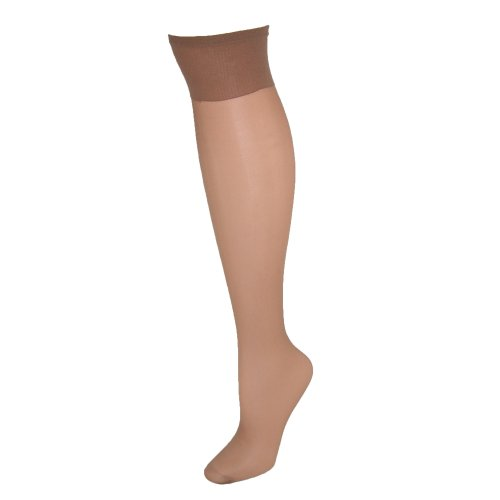 Hanes womens Silk Reflections Silky Sheer Knee Highs with Reinforced Toe 2-Pack(00775)-Little Color-1 Size-2PK