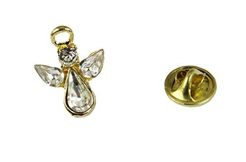 6030612 April Crystal Birth Month Angel Pin Guardian Lapel Brooch Tie (April Birthstone Angel Pin)