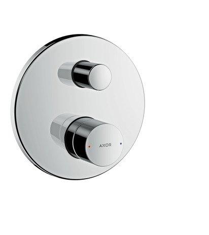 AXOR Uno manual Bath Mixer, Zero Handle, integrated backflow prevention, chrome