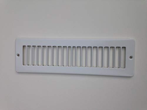 Toe Kick Registers - Under Cabinet Heating and Cooling White Register Plate