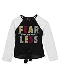 Dream Star Girls' Born Sassy Flip Sequin L/S Top